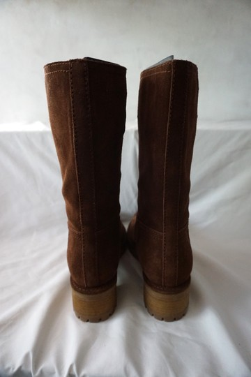 Prada Riding Suede Knee High Brown Boots Image 3