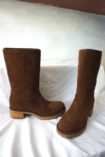 Prada Riding Suede Knee High Brown Boots Image 5