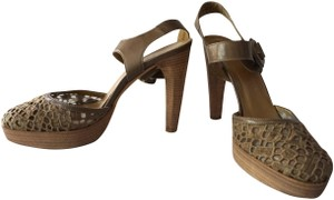 Stuart Weitzman Oversized Designer Brown Platforms