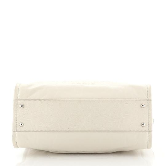 Chanel Deauville Glazed Calfskin Tote in white Image 3
