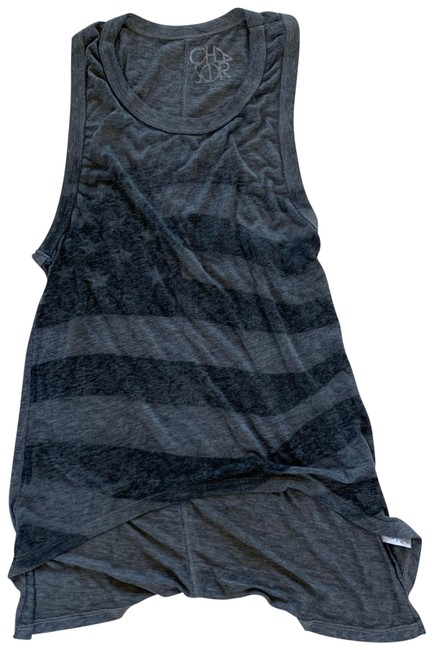 Item - Gray American Flag Oversized Tank Top/Cami Size 8 (M)
