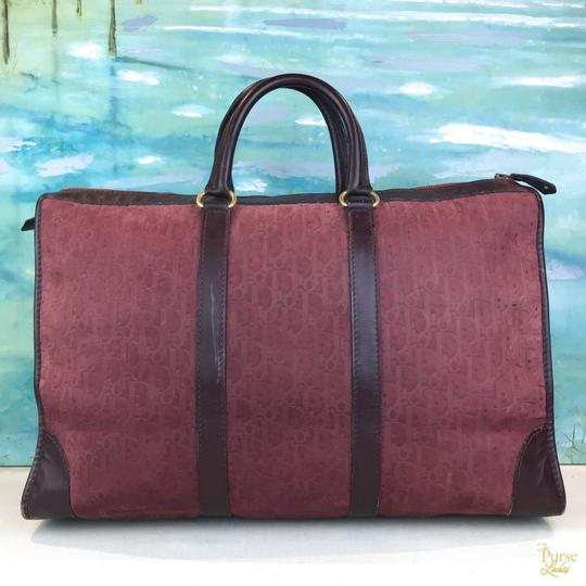 Dior Embossed Duffle Trotter Red Travel Bag Image 1