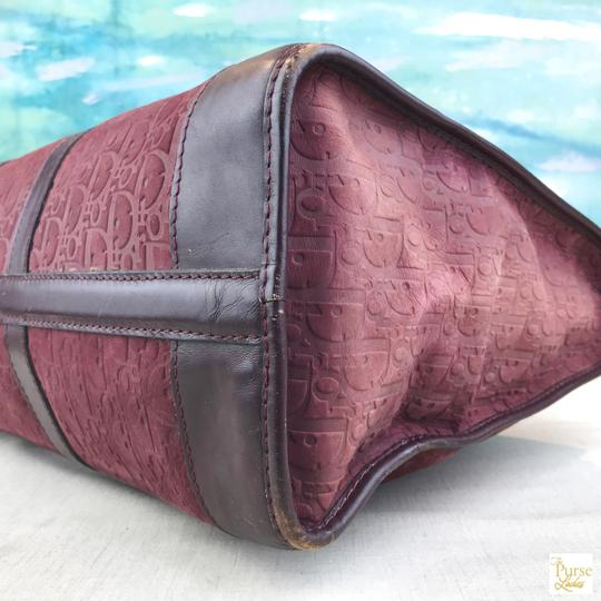 Dior Embossed Duffle Trotter Red Travel Bag Image 5