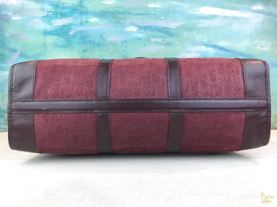 Dior Embossed Duffle Trotter Red Travel Bag Image 6