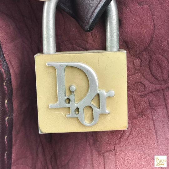 Dior Embossed Duffle Trotter Red Travel Bag Image 9