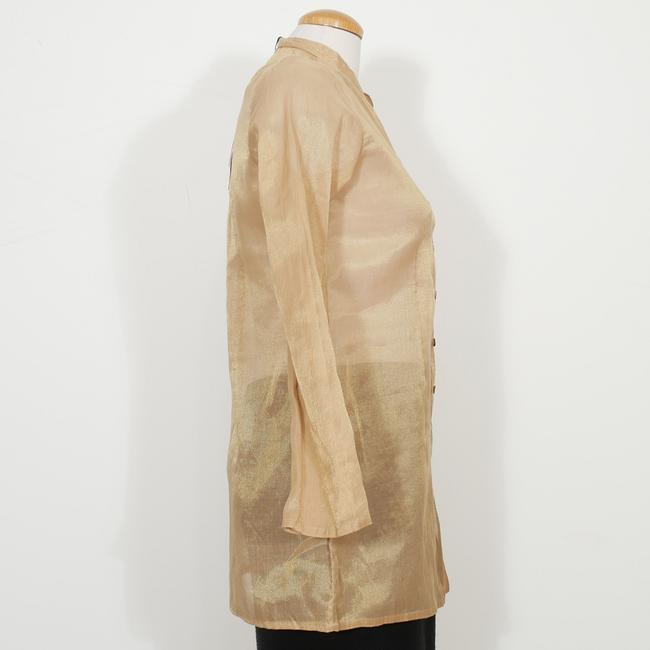 Eileen Fisher Top Antique Gold Image 1