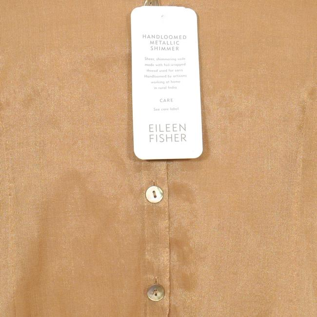 Eileen Fisher Top Antique Gold Image 3