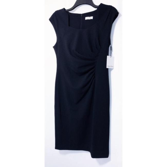 Calvin Klein Sheath Ruched Stretchy Cap Sleeve Dress Image 2