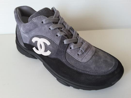 Chanel Sneakers Trainers Suede Black Athletic Image 1