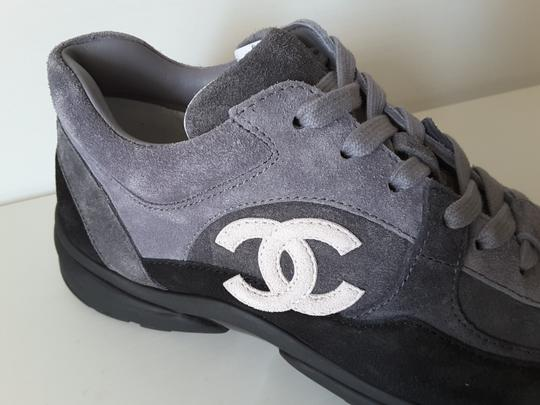 Chanel Sneakers Trainers Suede Black Athletic Image 6