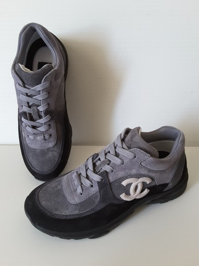 Chanel Sneakers Trainers Suede Black Athletic Image 7