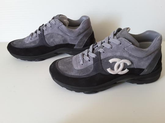 Chanel Sneakers Trainers Suede Black Athletic Image 8