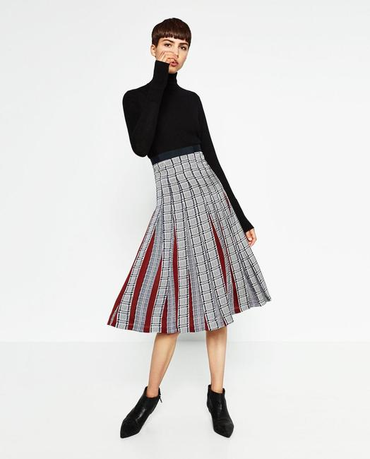 Zara Pleatedskirt Pleated Accordionpleats Skirt Multicolor Image 1