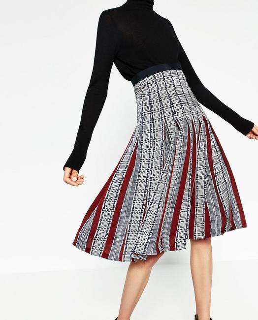 Zara Pleatedskirt Pleated Accordionpleats Skirt Multicolor Image 2