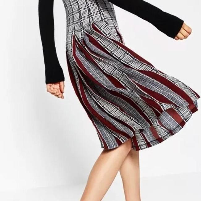 Zara Pleatedskirt Pleated Accordionpleats Skirt Multicolor Image 3