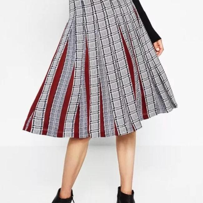 Zara Pleatedskirt Pleated Accordionpleats Skirt Multicolor Image 4