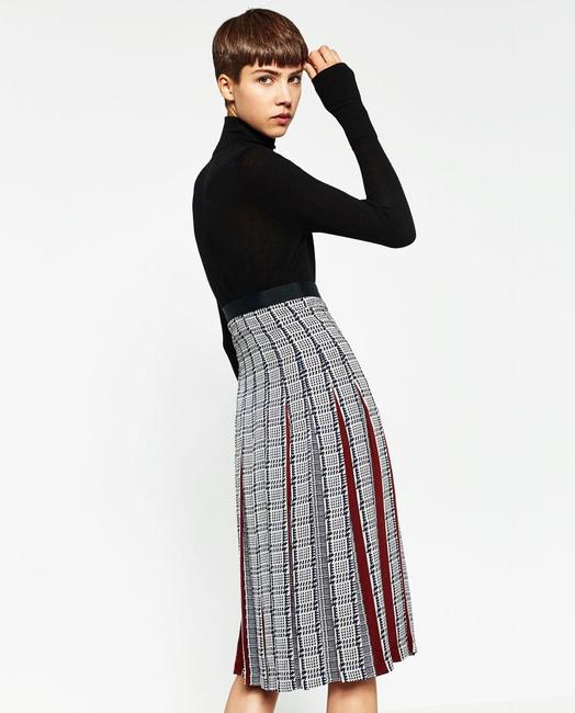 Zara Pleatedskirt Pleated Accordionpleats Skirt Multicolor Image 5