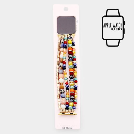 Other Apple Watch Pre-Layered Bead Stretch Strap Band Image 2