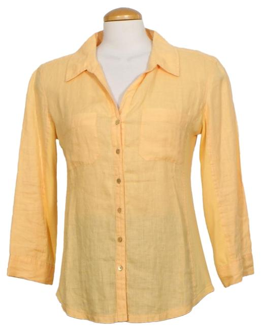 Preload https://img-static.tradesy.com/item/25764997/eileen-fisher-cantaloupe-orange-linen-cotton-baby-rib-tab-sleeve-shirt-s-blouse-size-6-s-0-1-650-650.jpg