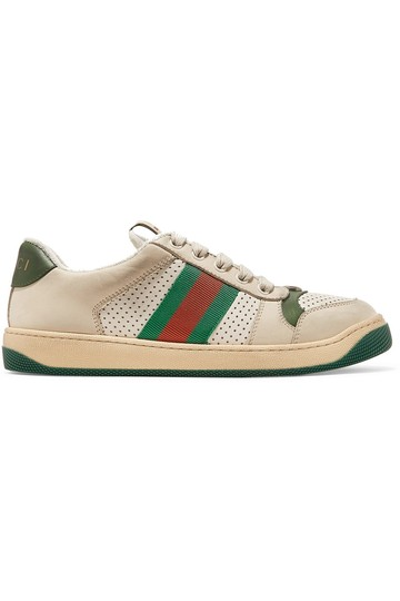 Preload https://img-static.tradesy.com/item/25765026/gucci-screener-canvas-trimmed-distressed-leather-sneakers-size-eu-35-approx-us-5-regular-m-b-0-1-540-540.jpg