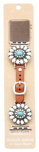 Other Natural Stone Detail Apple Watch Leather Strap Band