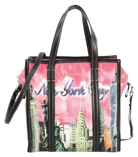 Preload https://img-static.tradesy.com/item/25765048/balenciaga-bazar-convertible-printed-small-pink-leather-tote-0-1-540-540.jpg
