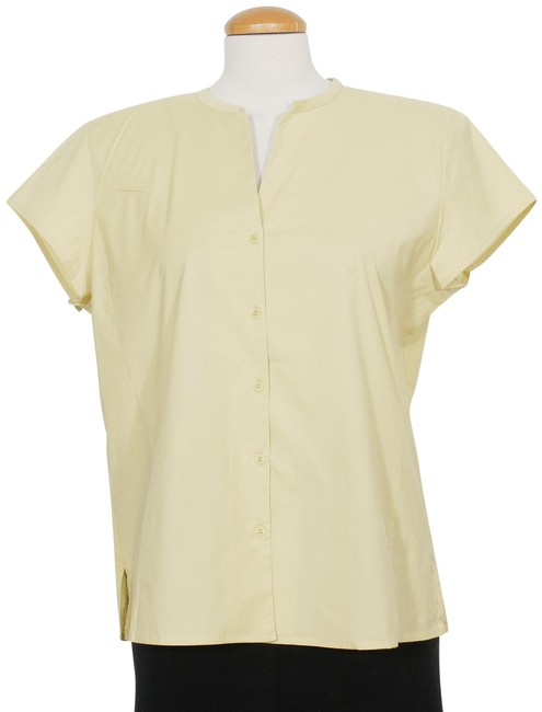 Preload https://img-static.tradesy.com/item/25765078/eileen-fisher-grapefruit-yellow-l-stretch-cotton-papercloth-shirt-blouse-size-14-l-0-1-650-650.jpg