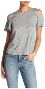 Rebecca Taylor Coldshoulder Heather Top Gray