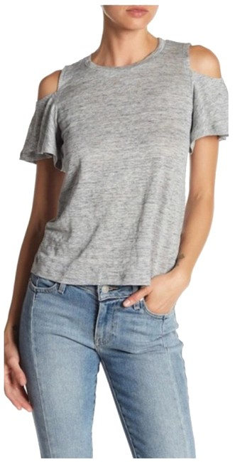 Preload https://img-static.tradesy.com/item/25765098/rebecca-taylor-gray-cold-shoulder-heather-blouse-size-8-m-0-3-650-650.jpg