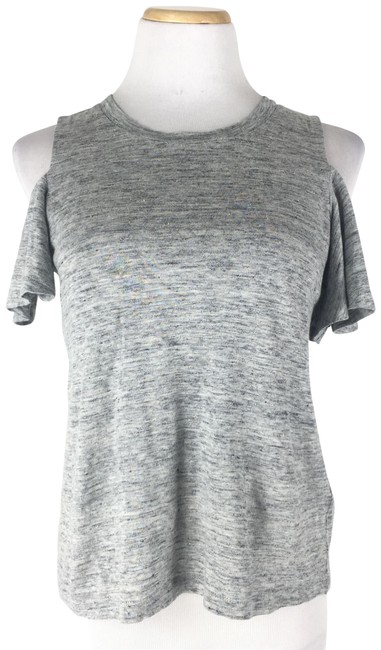 Rebecca Taylor Coldshoulder Heather Top Gray Image 1