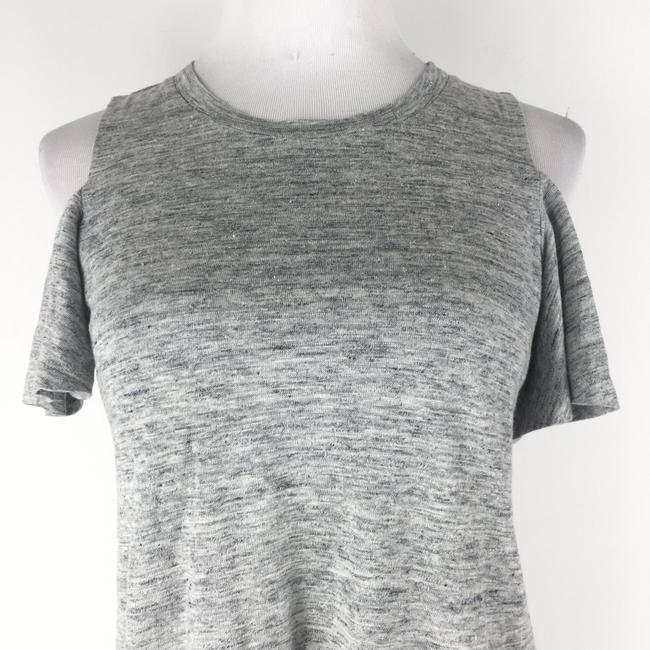 Rebecca Taylor Coldshoulder Heather Top Gray Image 2