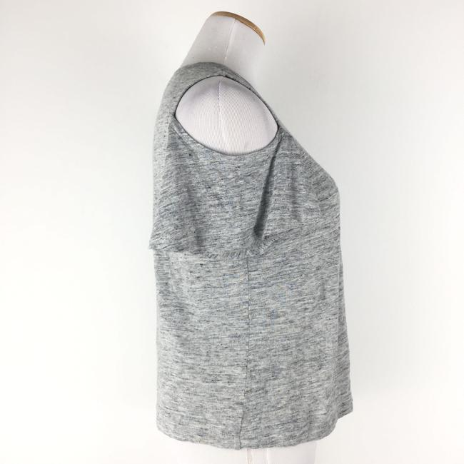 Rebecca Taylor Coldshoulder Heather Top Gray Image 4