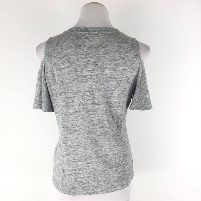 Rebecca Taylor Coldshoulder Heather Top Gray Image 5