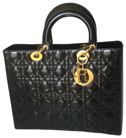 Preload https://img-static.tradesy.com/item/25765131/dior-lady-medium-black-patent-leather-satchel-0-2-540-540.jpg