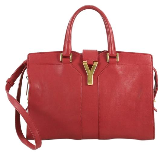Preload https://img-static.tradesy.com/item/25765148/saint-laurent-cabas-chyc-tote-small-red-leather-satchel-0-1-540-540.jpg