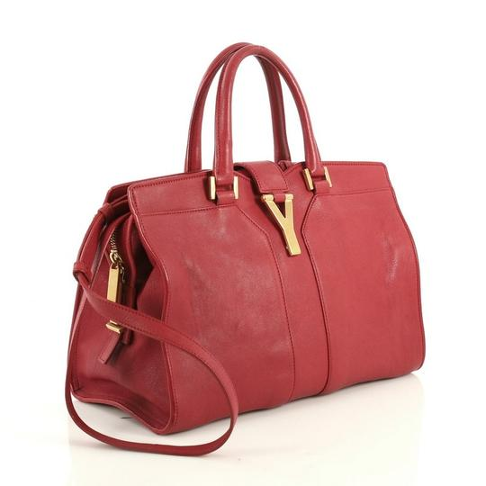 Saint Laurent Chyc Cabas Tote Satchel in red Image 1