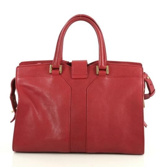 Saint Laurent Chyc Cabas Tote Satchel in red Image 2