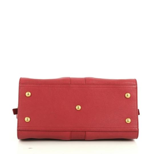 Saint Laurent Chyc Cabas Tote Satchel in red Image 3