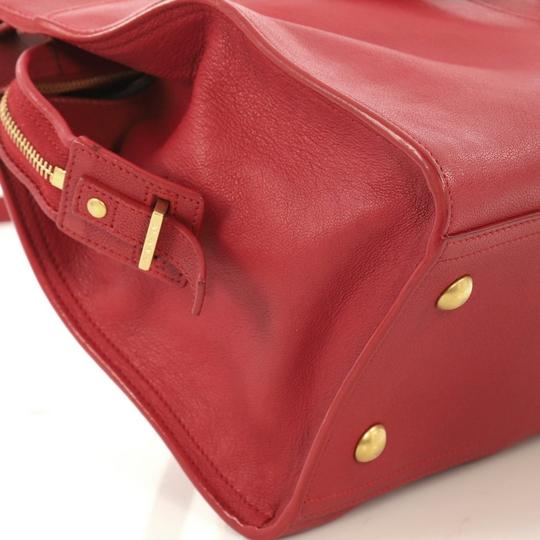 Saint Laurent Chyc Cabas Tote Satchel in red Image 6