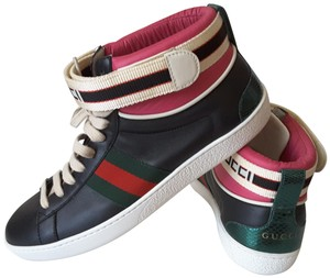 Gucci Sneakers High Top Black multicolor Athletic