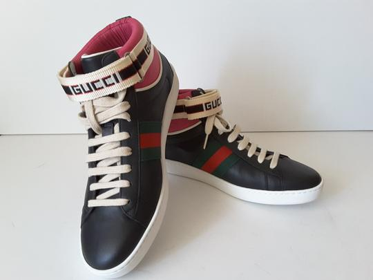 Gucci Sneakers High Top Black multicolor Athletic Image 1