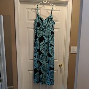 Navy blue & Turquoise Maxi Dress by Ann Taylor LOFT