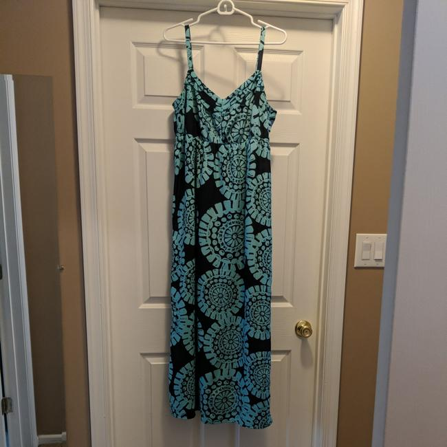 Preload https://item1.tradesy.com/images/ann-taylor-loft-navy-blue-and-turquoise-long-casual-maxi-dress-size-petite-12-l-25765175-0-0.jpg?width=400&height=650
