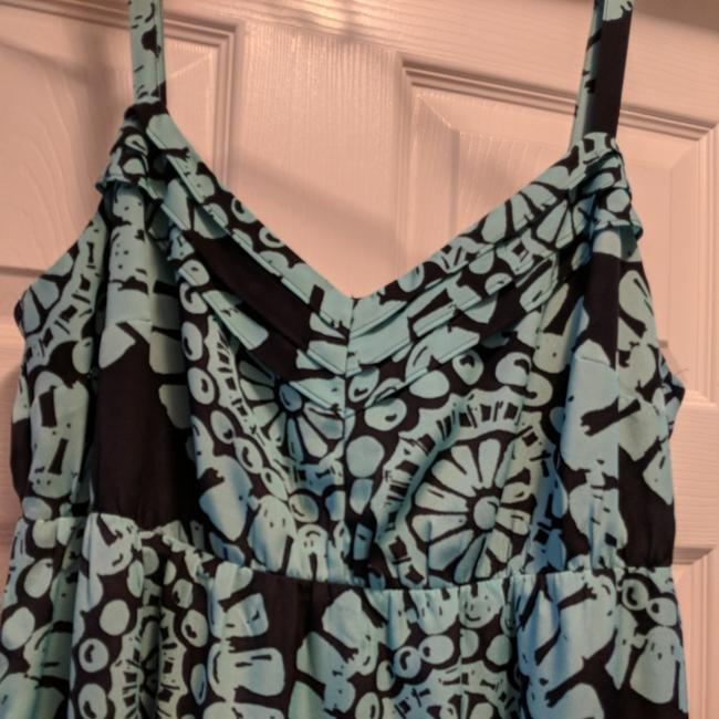 Navy blue & Turquoise Maxi Dress by Ann Taylor LOFT Image 1