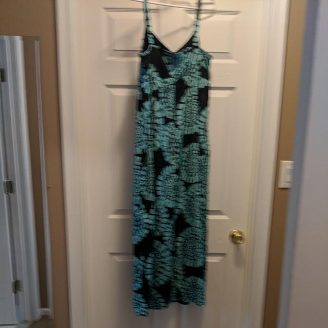 Navy blue & Turquoise Maxi Dress by Ann Taylor LOFT Image 2