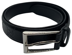 Gucci Gucci Monogram Leather Belt
