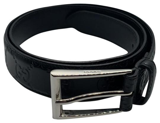 Preload https://img-static.tradesy.com/item/25765183/gucci-black-monogram-leather-belt-0-1-540-540.jpg
