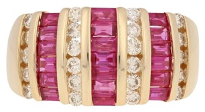 Wilson Brothers Jewelry 2.81ctw Rectangle Cut Ruby & Diamond Ring - 14k Yellow Gold E4489