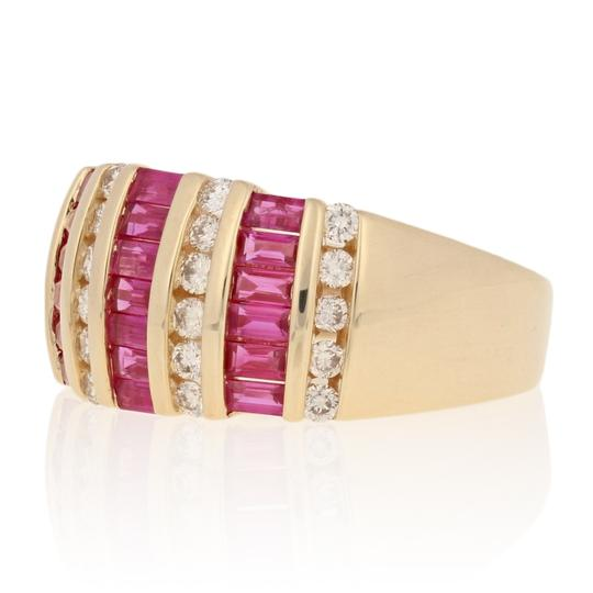 Wilson Brothers Jewelry 2.81ctw Rectangle Cut Ruby & Diamond Ring - 14k Yellow Gold E4489 Image 1