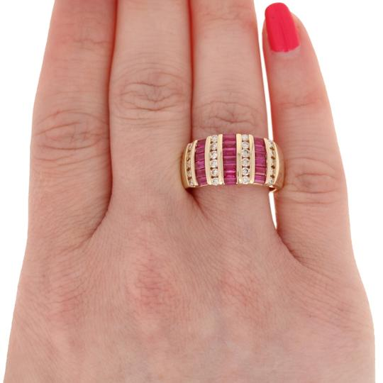 Wilson Brothers Jewelry 2.81ctw Rectangle Cut Ruby & Diamond Ring - 14k Yellow Gold E4489 Image 2